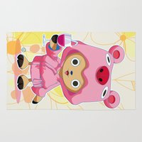 one piece Area & Throw Rugs featuring One Piece: TonyTony Chopper by Neo Crystal Tokyo