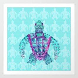 Tomas in Aqua Art Print