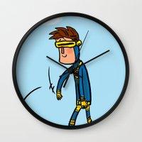 Cyclops Loves Baseball Wall Clock