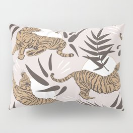Tigers and Bamboo Leaves Pillow Sham