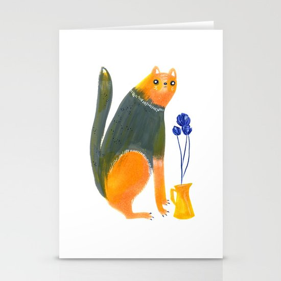 Kittens Like Flowers Too Stationery Cards