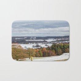Muggleswick snow landscape Bath Mat