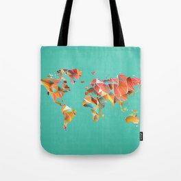 Geometric Map Tote Bag