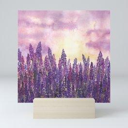 Lavender Field At Dusk Mini Art Print