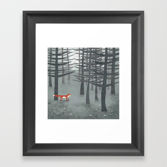 The Fox and the Forest Framed Art Print