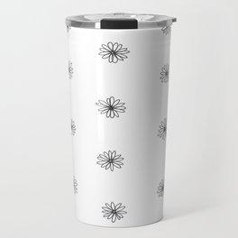 B&W Mini Daisies Travel Mug