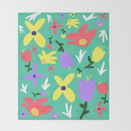 Handmade Bright Spring Pop Art Print Throw Blanket