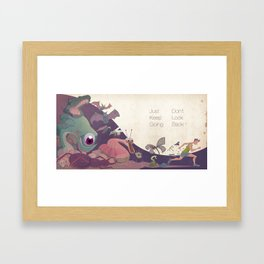 Just keep going Framed Art Print