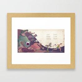 Just keep going Framed Art Print