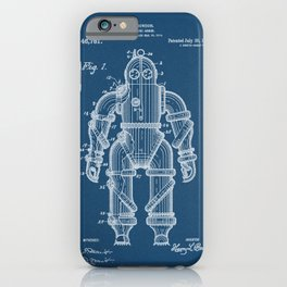 Submarine Armor Patent Blueprint 1915 iPhone Case