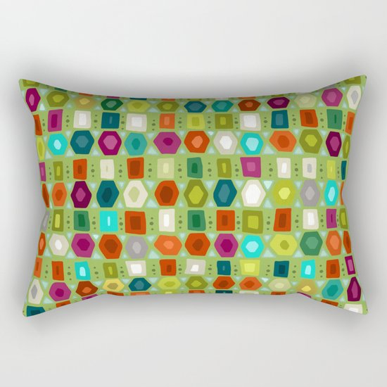 hex strip green Rectangular Pillow