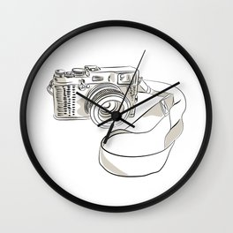 35mm SLR Film Camera Drawing Wall Clock