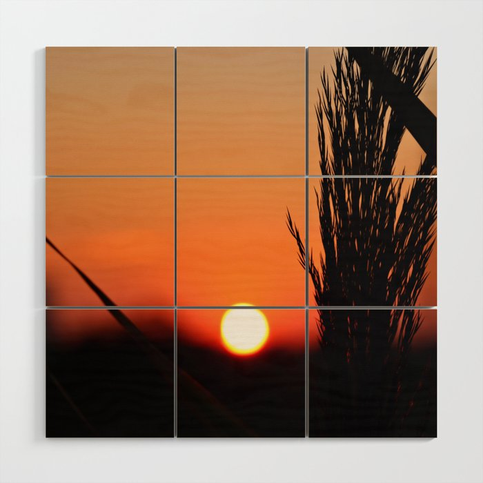 Through to the Setting Sun Wood Wall Art