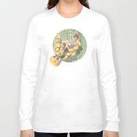 manga Long Sleeve T-shirts featuring Manga 2 by Hector Gomez