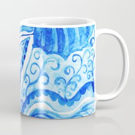 watercolor blue composition Coffee Mug