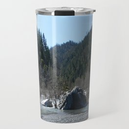 Gorgeous day in the mountains... Travel Mug