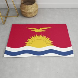 Kiribati flag emblem Rug