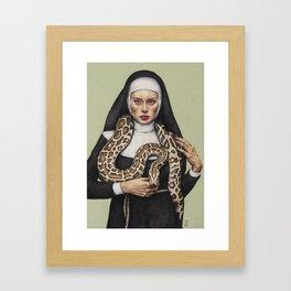 Nun the Wiser Framed Art Print