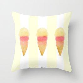 Ice Cream Trio Throw Pillow