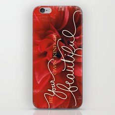 Be Your Own Kind of Beautiful iPhone & iPod Skin