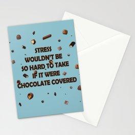 Falling  chocolates Stationery Cards