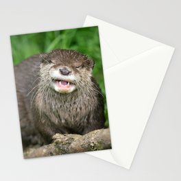 Smiling Otter Stationery Cards