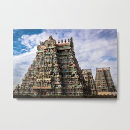 Sri Rangam Temple Metal Print