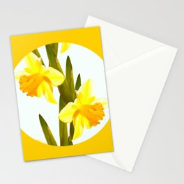 Yellow Spring Flowers with Green Leaf #decor #society6 #buyart Stationery Cards