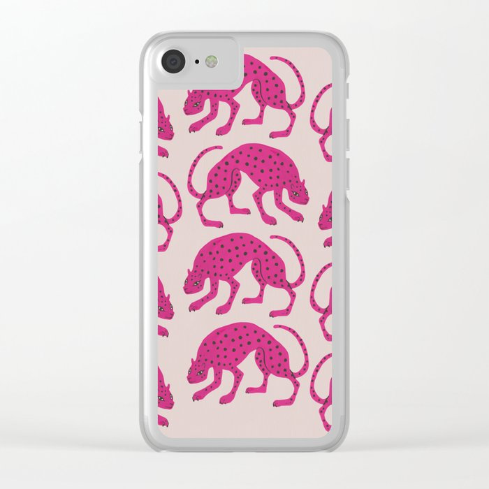 Wild Cats - Pink Clear iPhone Case