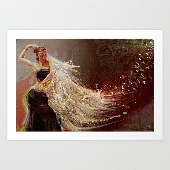 La Vida °^ Flamenca Art Print