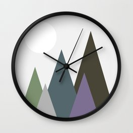 Night View of the Hills Wall Clock