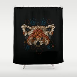 Red Panda Face Shower Curtain