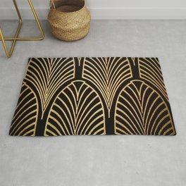Art nouveau Black,bronze,gold,art deco,vintage,elegant,chic,belle époque Rug