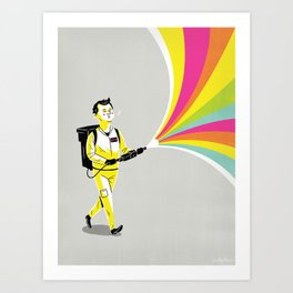 A Murray of Sunshine Art Print