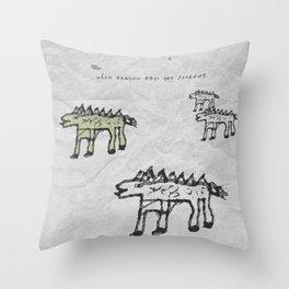 When Stickleback Dragon Dogs Get Jealous Throw Pillow