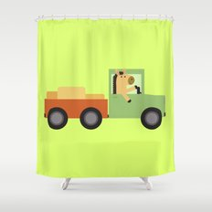 Horse on Truck Shower Curtain
