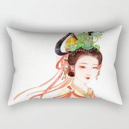 Watercolor Chinese Beauty -  Dunhuang Rectangular Pillow