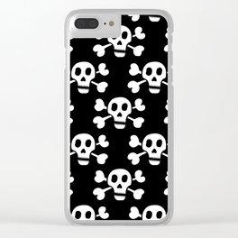 Skull & Crossbones Clear iPhone Case