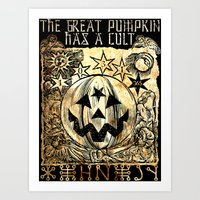 Cult of the Great Pumpkin: Sun, Moon and Angels Art Print
