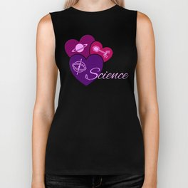 Heart for Science Biker Tank