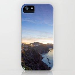 Oia village  Santorini Island at sunset iPhone Case