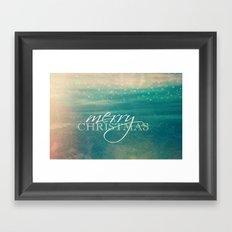 Merry Christmas Fairytale Design Framed Art Print