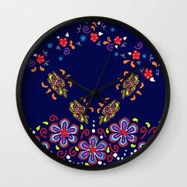 Dusky Florets Wall Clock