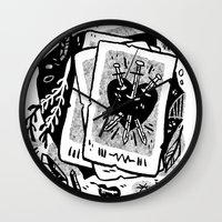 tarot Wall Clocks featuring Tarot talk by pam wishbow