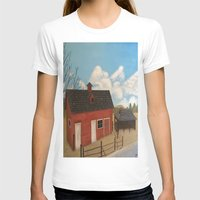 rustic T-shirts featuring Rustic Barn by McNallieGalleries