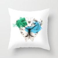 carousel Throw Pillows featuring Carousel by Rafael Igualada