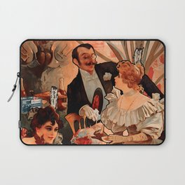 """Alphonse Mucha """"Biscuits Champagne Lefèvre Utile"""" Laptop Sleeve"""