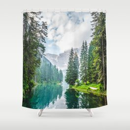 The Place To Be Shower Curtain