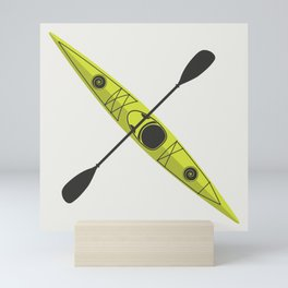 Kayak - Lime Green Mini Art Print