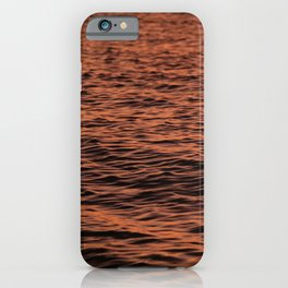 Ripples at Sunset iPhone Case